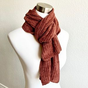 SNUGGLY CHENILLE Brown Scarf SOFT!!